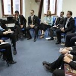 leadership group in room